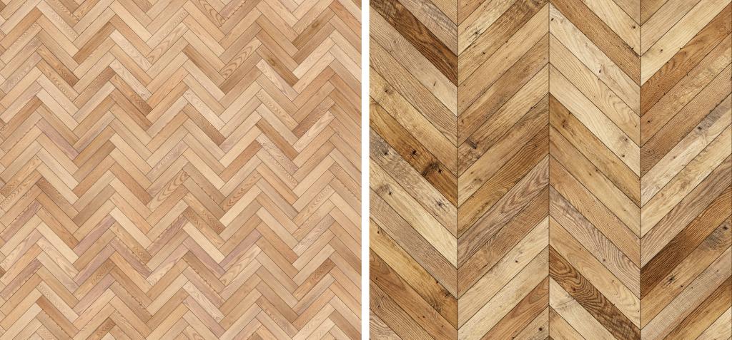 Herringbone vs chevron wood floor: are they the same?