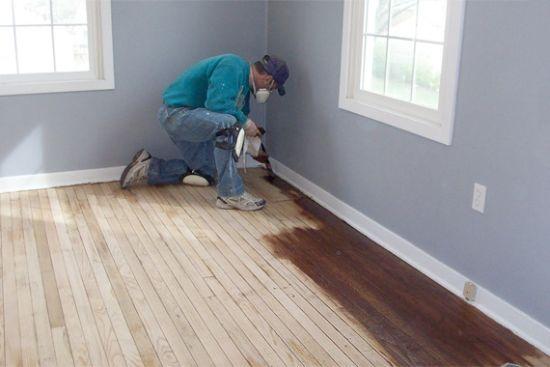 step-2-staining-refinishing-wood-floorinng-staining